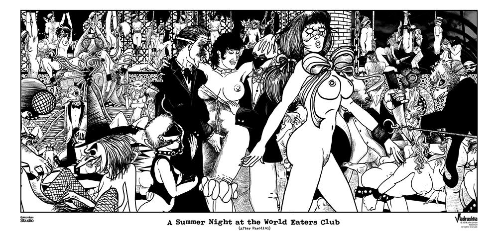 Vladrishka: A Summer Night at the World Eaters Club (c)2019 John Linton Roberson