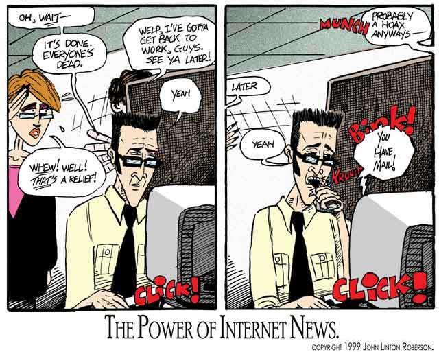The Power if Internet News by John Linton Roberson (c) 1999 John Linton Roberson