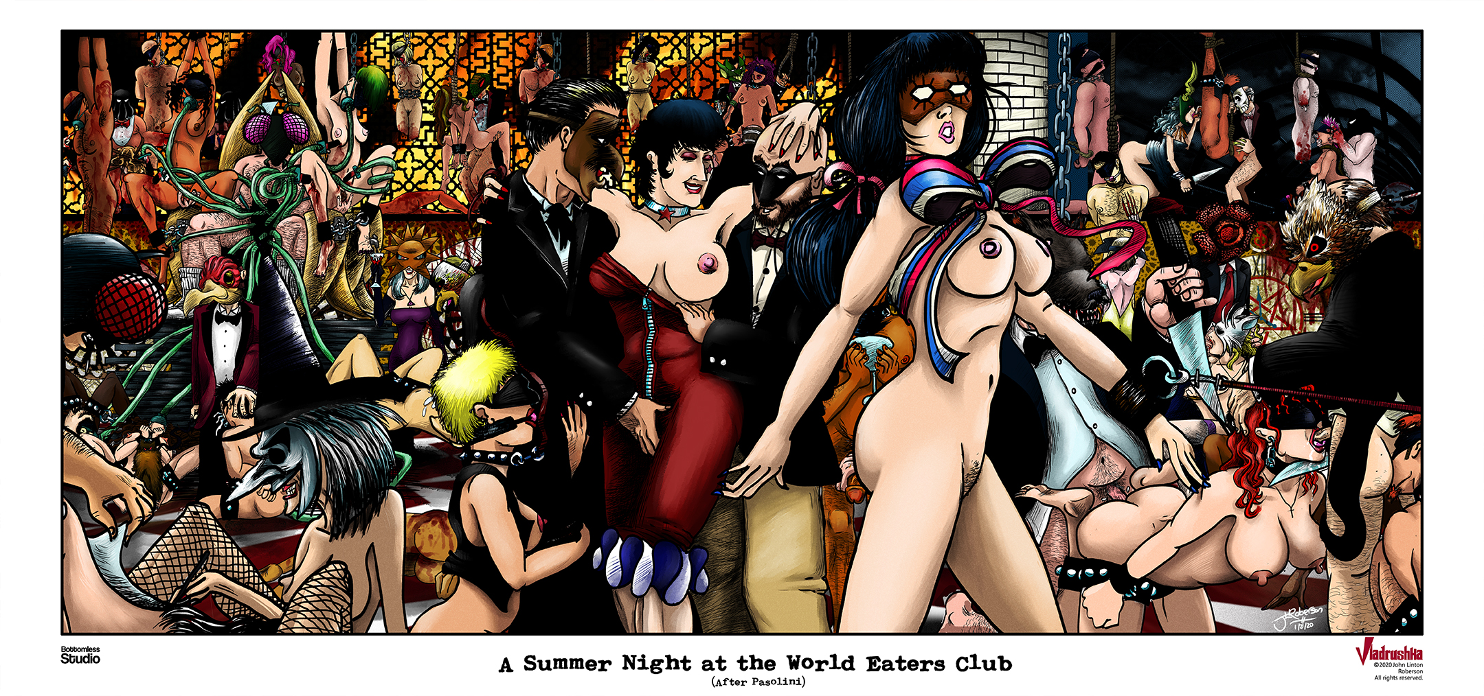 Vladrushka: A Summer Night at the World Eaters Club (c)2019 John Linton Roberson