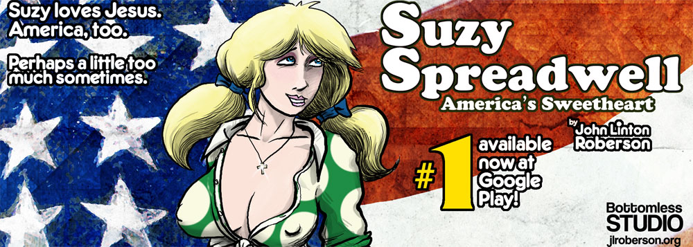 SUZY SPREADWELL #1 by John Linton Roberson, available at Google Play Books!